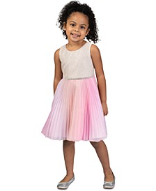 Toddler Girls Glitter Ombré-Chiffon Dress