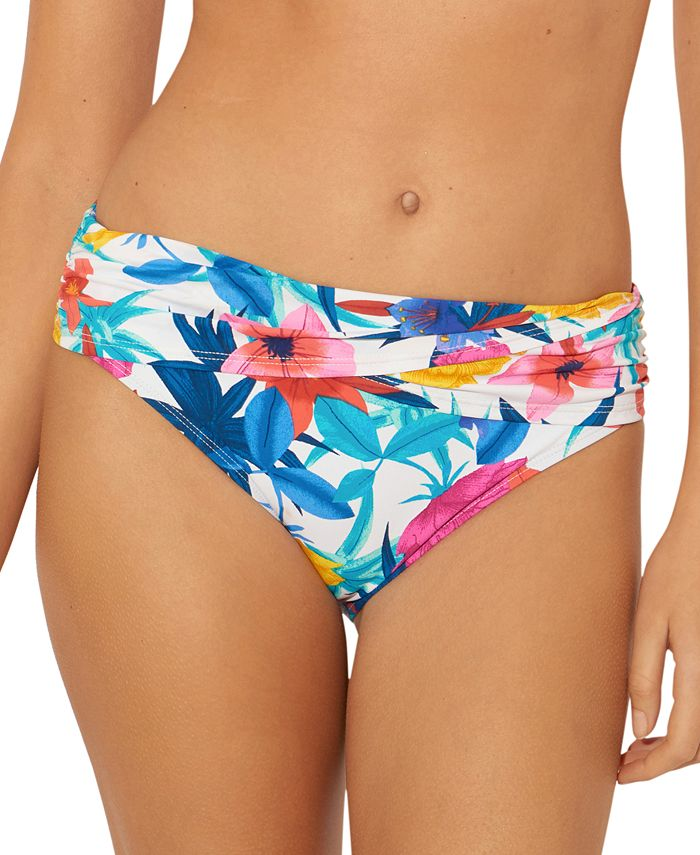 Bleu by Rod Beattie - Printed Foldover Bikini Bottoms