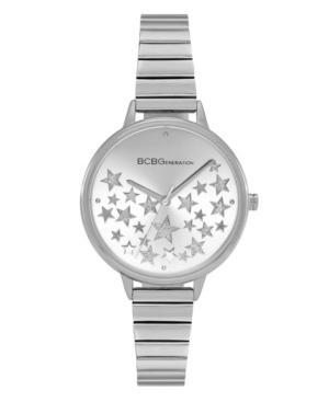 Ladies 3 Hands Slim Silver-Tone Stainless Steel Bracelet Watch