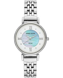 Women's Considered Solar-Powered Silver-Tone Bracelet Watch 30mm