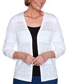 Classics Biadere Pointelle Open-Front Cardigan