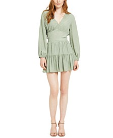 Magnolia Polka Dot Balloon-Sleeve Top & Magnolia Mini Skirt