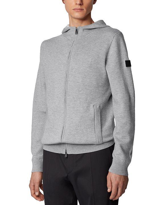 Hugo Boss BOSS Men's Oduardo Open Grey Sweater