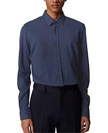 BOSS Men's Ronni_53 Dark Blue Shirt