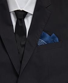 BOSS Men's Open Blue Rolled Pocket Square