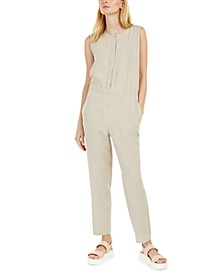 Organic Linen Sleeveless Jumpsuit