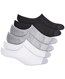 Women's 6-Pk. No Slipping No Sliding Invisible Cuff Cushion Sneaker Liner Socks