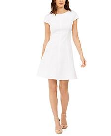 Kapser Textured Fit & Flare Dress