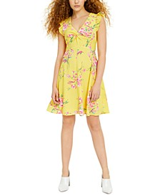 Floral-Print Fit & Flare Dress, Created for Macy's