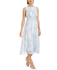Paisley Chiffon Ruched Dress