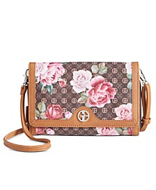 Signature Peonies Crossbody Wallet, Created for Macy's