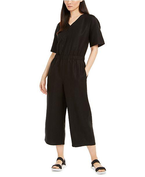 Eileen Fisher V-Neck Jumpsuit, Regular & Petite Sizes