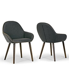 Set of 2 Alan Arm Chair in Vintage-like Color with Contrasting Stitching