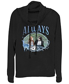 Harry Potter Snape And Lily Always Portrait Cowl Neck Women's Pullover Fleece