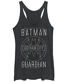 DC Batman Gotham City Guardian Tri-Blend Women's Racerback Tank