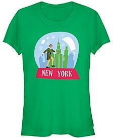 Elf New York Buddy Snow Globe Women's Short Sleeve T-Shirt