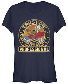 Looney Tunes Wile E. Coyote Trust Me I'M A Professional Women's Short Sleeve T-Shirt