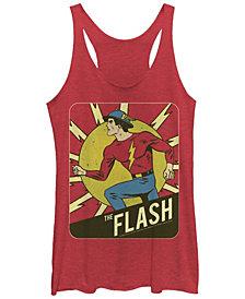 Fifth Sun DC The Flash Classic Silver Age Tri-Blend Women's Racerback Tank