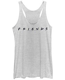Friends Classic Letters Logo Tri-Blend Women's Racerback Tank