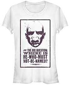 Harry Potter Where Is Voldemort Poster Women's Short Sleeve T-Shirt