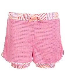 Big Girls Mesh Layered-Look Shorts, Created for Macy's