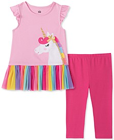 Baby Girls 2-Pc. Unicorn Tunic and Leggings Set