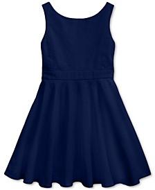 Little Girls Crossback Stretch Dobby Dress