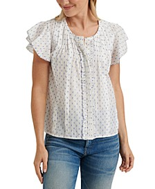 Flutter-Sleeve Poet Top