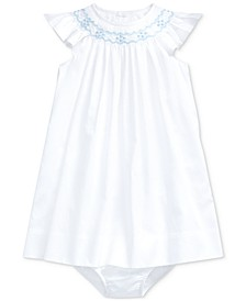 Baby Girls Cotton Dress & Bloomer