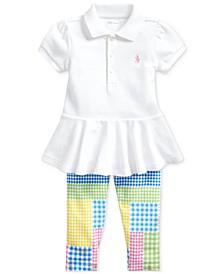 Baby Girls Peplum Top & Leggings Set