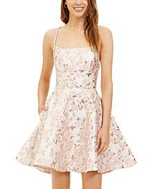 B Darlin Juniors' Lace-Up A-Line Dress