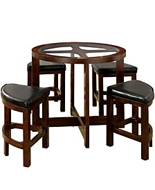 Clyde Hill 5-Piece Round Table Set