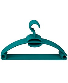 HDS TRADING CORP Tubular Plastic Hanger with Concave Sides and Center Accessory Hook, Pack of 10