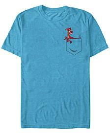 Disney Princesses Men's Mulan Mushu Left Chest Pocket Short Sleeve T-Shirt