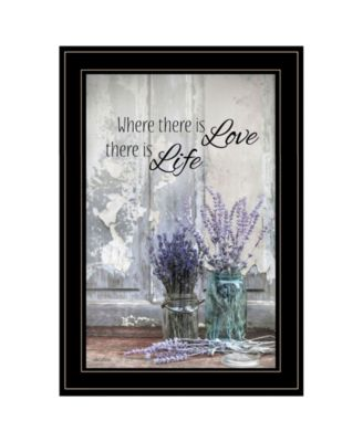 Where There is Love by Lori Deiter, Ready to hang Framed Print, Black Frame, 15