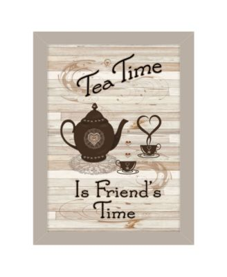 Tea Time by Millwork Engineering, Ready to hang Framed Print, White Frame, 10