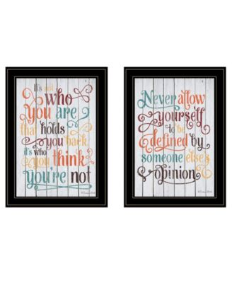 Who You Think 2-Piece Vignette by Susan Ball, Black Frame, 15
