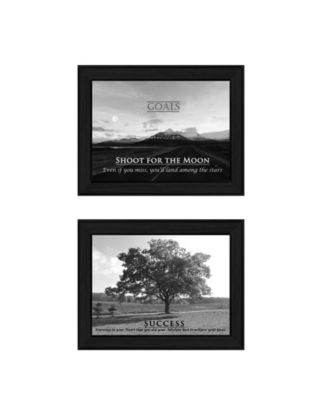 Success Collection By Trendy Decor4U, Printed Wall Art, Ready to hang, Black Frame, 20