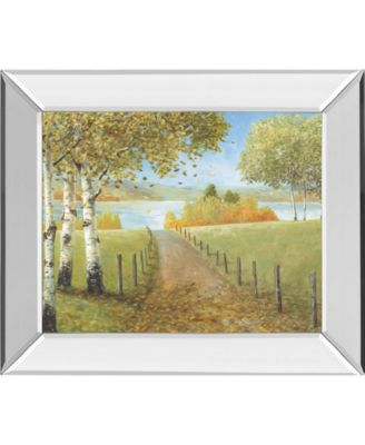 Rural Route I by A. Fisk Mirror Framed Print Wall Art, 22
