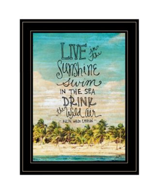 Live in the Sunshine by Misty Michelle, Ready to hang Framed Print, Black Frame, 15