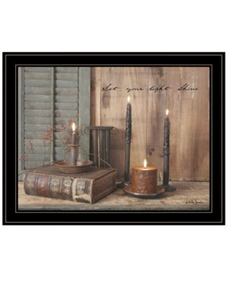 Let Your Light Shine by Billy Jacobs, Ready to hang Framed Print, Black Frame, 27