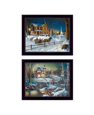 Home for the Holidays Collection By Jim Hansen, Printed Wall Art, Ready to hang, Black Frame, 18