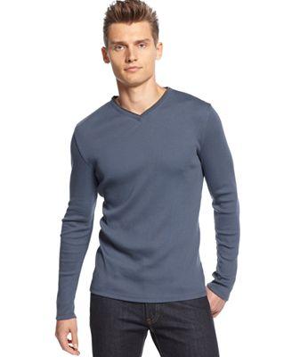 Calvin Klein Men's Long Sleeve Shirt - T-Shirts - Men - Macy's