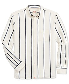 Men's Indigo Yarn-Dye Striped Shirt, Created for Macy's