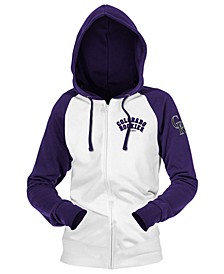 Colorado Rockies Women's Zip-Up Contrast Hoodie