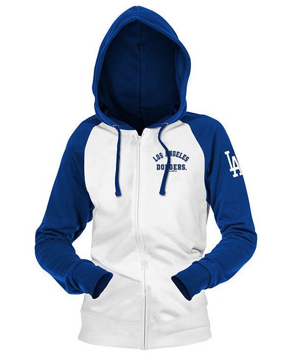 5th & Ocean Los Angeles Dodgers Women's Zip-Up Contrast Hoodie