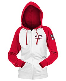 St. Louis Cardinals Women's Zip-Up Contrast Hoodie