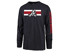 Atlanta Braves Men's Cross Stripe Long Sleeve T-Shirt