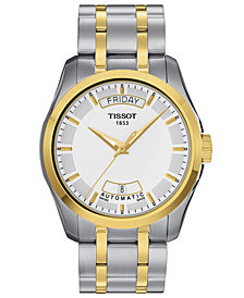 Tissot Watch, Men's Swiss Automatic Couturier Two-Tone Stainless Steel Bracelet 39mm T0354072201100