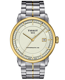 Tissot Watch, Men's Swiss Automatic Luxury Two-Tone Stainless Steel Bracelet 41mm T0864072226100